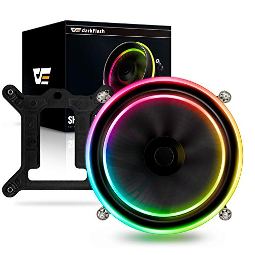 darkFlash Shadow PWM Aluminum CPU Air Cooler LED Addressable RGB Motherboard Control Cooler Cooling Fan Motherboard Sync for Intel Core i7/i5/i3 (Best Cpu Coolers For I7 7700k)
