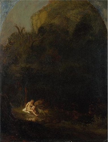 Oil Painting 'Follower Of Rembrandt - Diana Bathing Surprised By A Satyr,17th Century' Printing On High Quality Polyster Canvas , 10x13 Inch / 25x33 Cm ,the Best Bar Gallery Art And Home Artwork And Gifts Is This Cheap But High Quality Art Decorative Art Decorative Prints On
