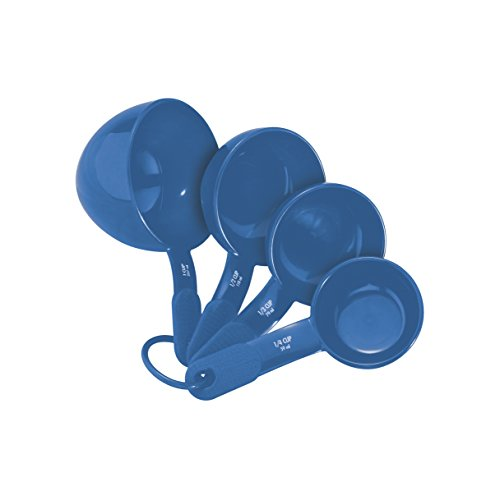 (Kitchenaid Plastic Measuring Spoons, Set of 5, Ocean Blue )