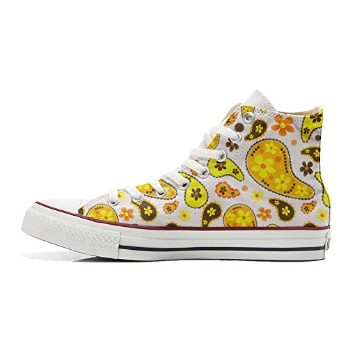 Converse All Star Customized - personalisierte Schuhe (Handwerk Produkt) Hippie Paisley