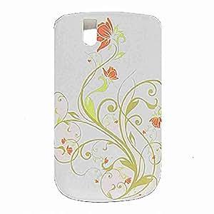 Move & Moving (TM) flores blanco suave carcasa de plástico Shell para BlackBerry 9630