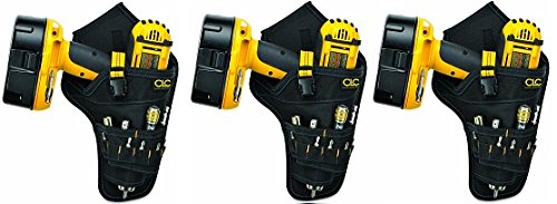 CLC Custom Leathercraft 5023 Deluxe Cordless Poly Drill Holster, Black ()