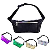 iAbler Holographic Fanny Pack for Women and Men Metallic...