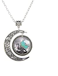 Blue Wing Dragon Pendant Necklace Dragon Necklace Dragon Jewelry Dragon pendants Fantasy dragon necklaces
