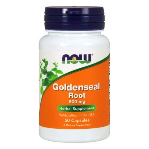 Goldenseal Root 50 Caps - Goldenseal Root, 500 mg, 50 Caps by Now Foods (Pack of 6)