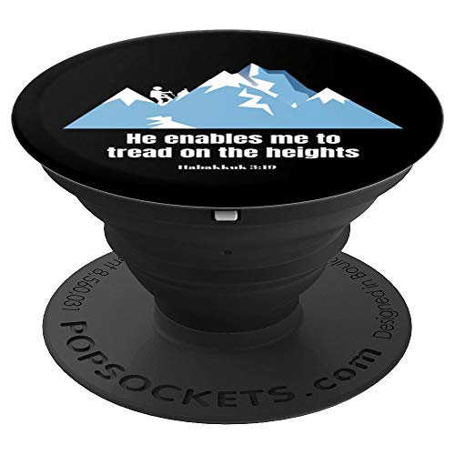 (Hiking Christian Hab 3:19 He Enables Me Overcomer  PopSockets Grip and Stand for Phones and Tablets)