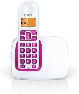 Philips CD1911 Solo - Teléfono fijo inalámbrico sin contestador, color rosa [Importado de Francia]: Amazon.es: Electrónica