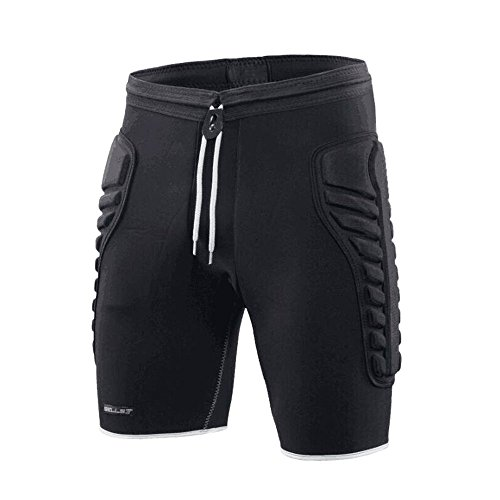 TUOY Mens Tri-Flex Padded Compression Shorts Protection Undershort Best for Basketball,Football,Hockey,Cycling and Contact Sports(Meduim Size)