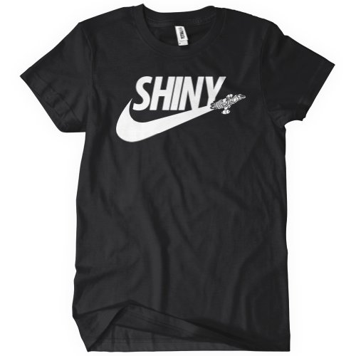 Shiny Swoosh T-Shirt Funny Adult Mens Cotton Tee Sizes S-5XL