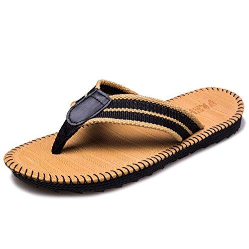 SANLION Men's Comfortable Flip-Flops Thongs Sandals Beach Slippers (8.5 D(M) US / 42 EU, Yellow) ()