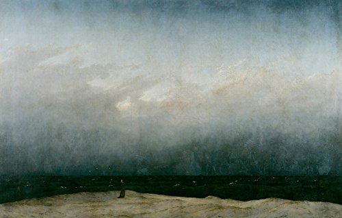 The Monk by the Sea - (Artist: Caspar David Friedrich) c. 1808 - Masterpiece Classic (16x24 SIGNED Print Master Giclee Print w/Certificate of Authenticity - Wall Decor Travel Poster) ()