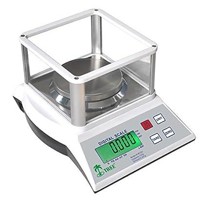 KHR-120-3 -- 100 g x 0,001 g Balanza de precisión económica, peso de calibración incluido, placa protectora de cristal, laboratorio universidades joyería ...
