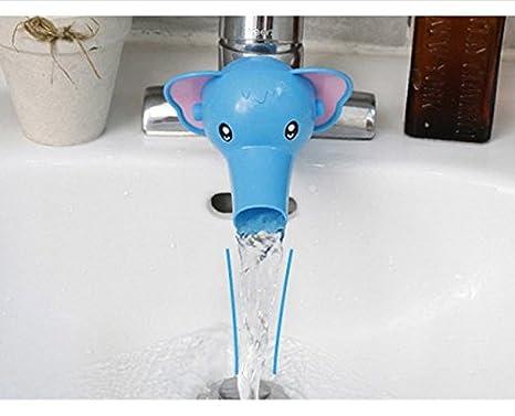 Blue Elephants Natthom Wasserhahn Verl/ängerung Extender S/ü/ß Griff Extender f/ür Kinder Baby H/ände Waschen Badezimmer-Cartoon Frosch Design Size One Size
