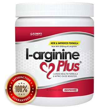 L-Arginine Plus Raspberry - Delicious Blood Pressure, Cholesterol and Energy Supplement - Heart Health Supplement (1) 13.4 Oz