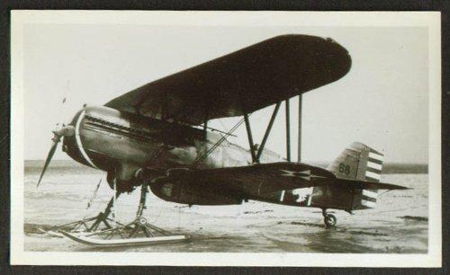 Curtiss P-6E Hawk Fighter on skids photo 1930s