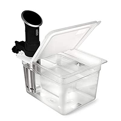 EVERIE Sous Vide Container 12 Quart EVC-12 with Collapsible Hinge Lid for Anova Cookers (Corner Mount) (Does Not Fit Nano) - 4046579 , B074N3JC4L , 454_B074N3JC4L , 34.95 , EVERIE-Sous-Vide-Container-12-Quart-EVC-12-with-Collapsible-Hinge-Lid-for-Anova-Cookers-Corner-Mount-Does-Not-Fit-Nano-454_B074N3JC4L , usexpress.vn , EVERIE Sous Vide Container 12 Quart EVC-12 with Col