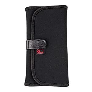 O.N.E OC-P1B Black Neoprene Wallet Pouch Case Carry Bag With 8 Pockets Slots For 25MM-82MM Filters