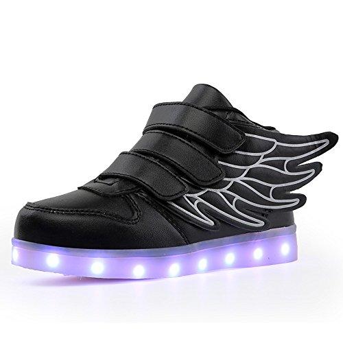 0291731392c155 COIN Unisex LEDLicht Skateboard Schuhe mit FlügelArt Kinder USB ...