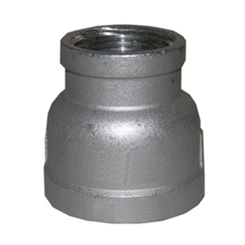 LASCO 32-2842 Stainless Steel Bell Reducer with 1 1/2-Inch Female Pipe Thread and 1-Inch Female Pipe Thread (Black Reducer Coupling)