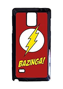 Big Bang Theory Sheldon Bazinga Custom Image Case, Diy Durable Hard Case Cover for Samsung Galaxy Note 4 , High Quality Plastic Case By Argelis-Sky, Black Case New