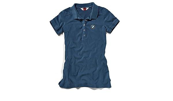 Polo para mujer con logo de BMW, de color azul XL: Amazon.es ...
