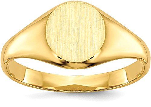 ICE CARATS 14k Yellow Gold Childs Signet Band Ring Size 5.00 Baby Fine Jewelry Gift Set For Women Heart