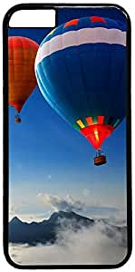 Hot Air Balloons Over the Mountains Retro Vintage Design iPhone 5s Hard Shell Case Cover by iCustomonline
