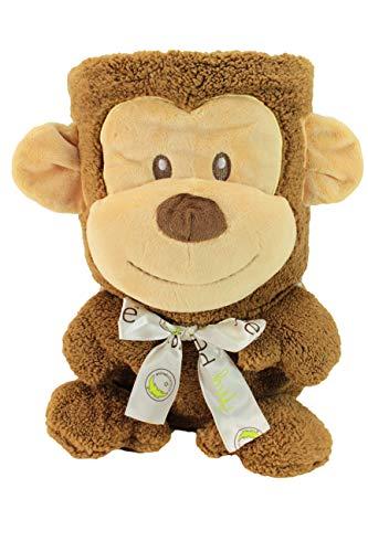 My Pet Blankie Grand Monkey | Ultra Soft 3-in-1 Fleece Monkey Blanket | Grand Size | by Animal Adventure -