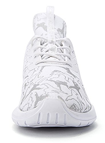Soulsfeng Men Women Unisex Casual Fashion Sneakers Glow in Dark Running Shoes (Men US8=EUR41=26CM, White (Fabric Lining))