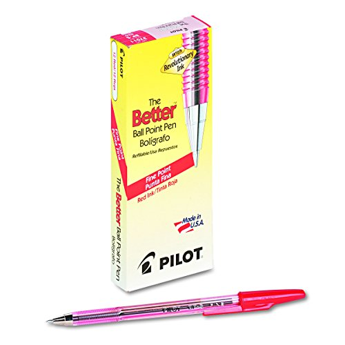 (Pilot 37011 Better Ball Point Stick Pen, Red Ink, .7mm (Pack of 12) )