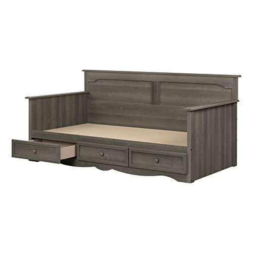 South Shore 11687 Savannah Daybed with Storage, Gray -