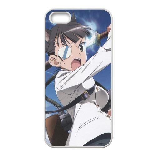 Strike Witches Girl Guns Sky Eye Patch 41226 coque iPhone 5 5s cellulaire cas coque de téléphone cas blanche couverture de téléphone portable EEECBCAAN05144