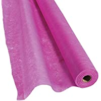 Hot Pink Gossamer Roll 100 FT X 3 FT Wedding Aisle Decoration Table Cover, Dropback