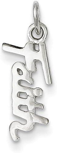 925 Sterling Silver Faith Charm