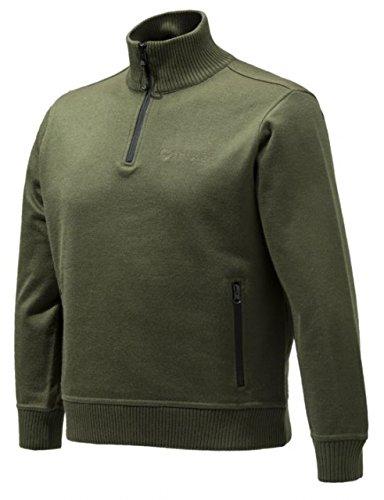 Beretta BEPU421T12010715M Techno windshield Half Zip Jacket, Green, Medium by Beretta