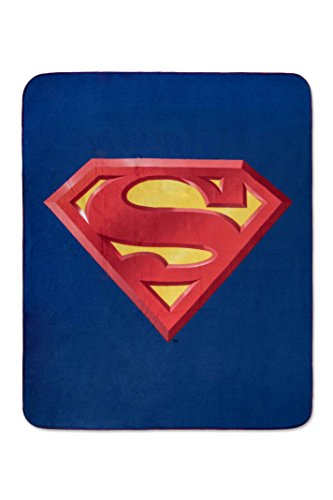 Superman Fleece - Superman Emblem Luxury Fleece Throw Blanket with Sewn edge Super Soft 50