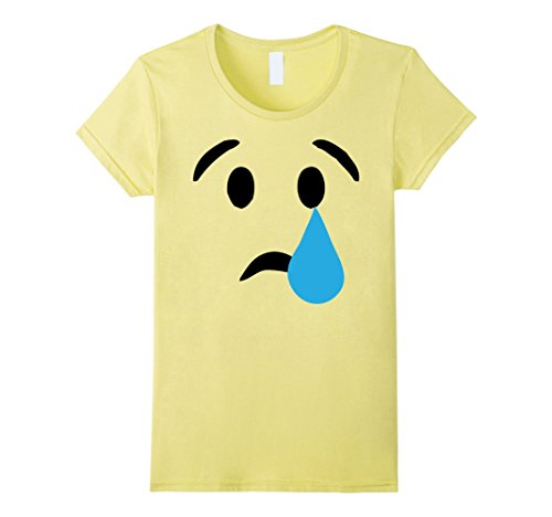 Women's Emoji T Shirt Crying Face