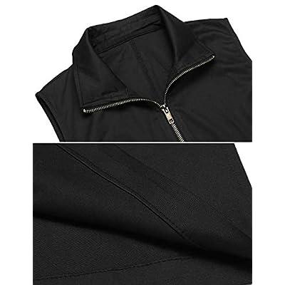 Pinspark Women Casual Lightweight Soft Full-Zip Vest Military Sleeveless Jacket: Clothing
