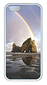 For Case Samsung Galaxy S4 I9500 Cover Case Double Rainbows over a rock formation PC Custom For Case Samsung Galaxy S4 I9500 Cover White
