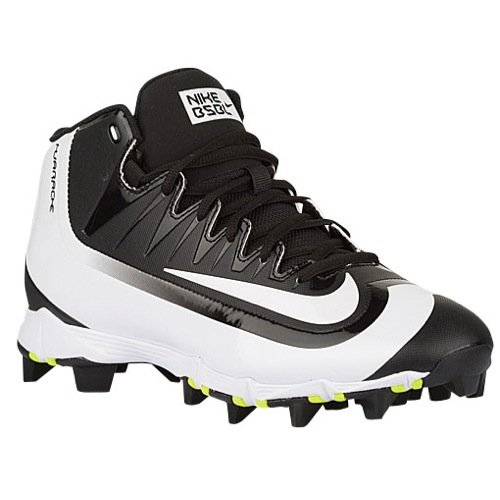 Nike Men's Huarache 2KFilth Keystone Mid Baseball Cleat Black/Volt/White Size 7 M US