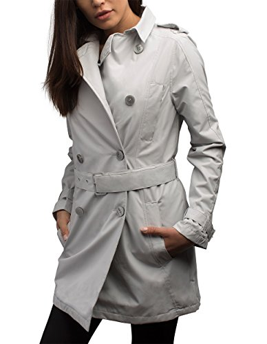 SCOTTeVEST Women's Trench Coat - Travel Clothing, Trench & Rain Coats for Women (MST XL)