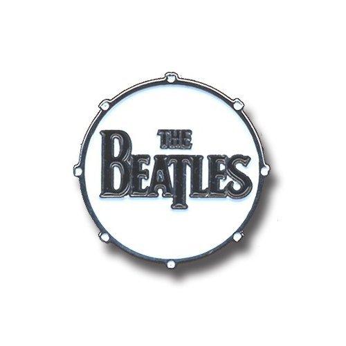 Metal Lapel Pin - The Beatles - Bass Drum Logo Black Text