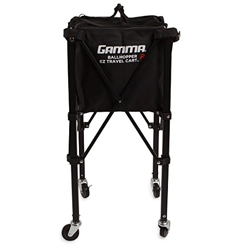 Gamma Sports EZ Travel Cart Pro 250 Ball Hopper, Black (Ball Tennis Carts)