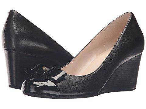 Cole Haan Women's Elsie Bow Wedge 65mm II Black Leather/Black Patent Wedge 11 B (M)