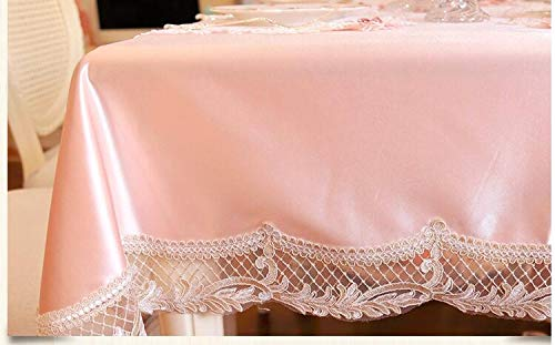 New beauty lace Place tablecloths table cloth mat cover Europe pink princess dinner table mat wedding romantic Dec FG792  pink B07RDGH4K7