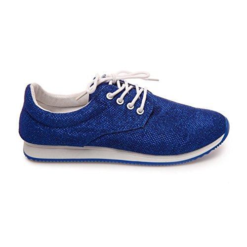 La Modeuse-Runnings recubiertas de partículas para mujeres Azul - azul