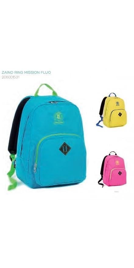 0aa64a175b Invicta Zaino scuola tempo libero-Ring MISSION FLUO -2015/2016-24 LT:  Amazon.it: Sport e tempo libero