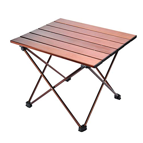 - Camp Table Folding Camping Table Portable Compact Table Heavy Duty Aluminum Rustproof Tabletop with Carry Bag for Outdoor Beach Picnic BBQ and Travel, Easy to Clean