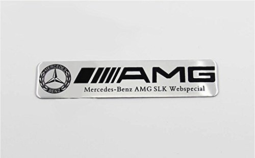 Mercedes-Benz  AMG SLK Webspecial Emblem Badge Metallic 100/ x 25/ mm