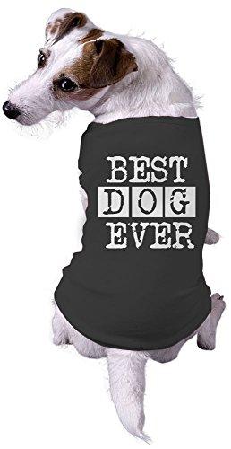 Dog Best Dog Ever Funny Animal Lovers Jacket for Pets Dog Shirt (Black) - M ()